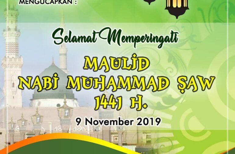 Selamat Memperingati Maulid Nabi Muhammad SAW 1441 H
