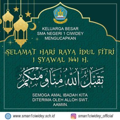 Hari Raya Idul Fitri 1 Syawal 1441 H.